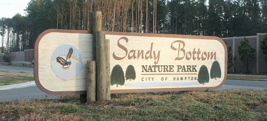 Sign at Sandy Bottom Nature Park