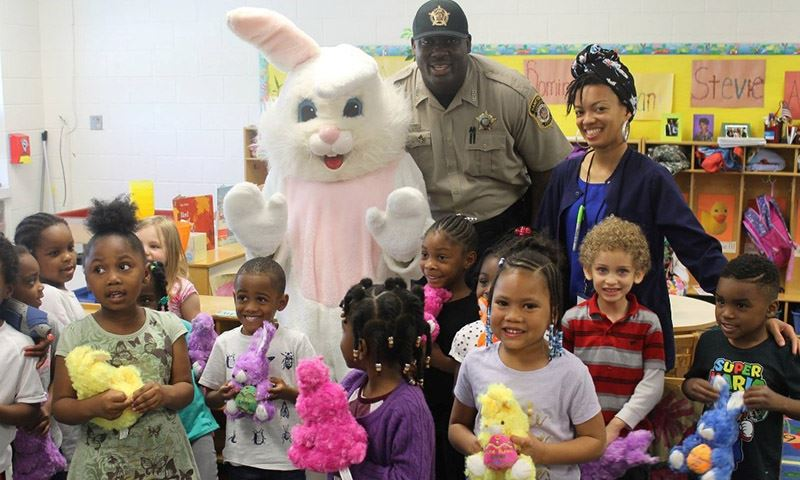 Deputies escort Easter Bunny