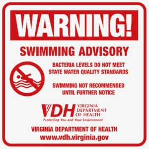 swimming advisory sign