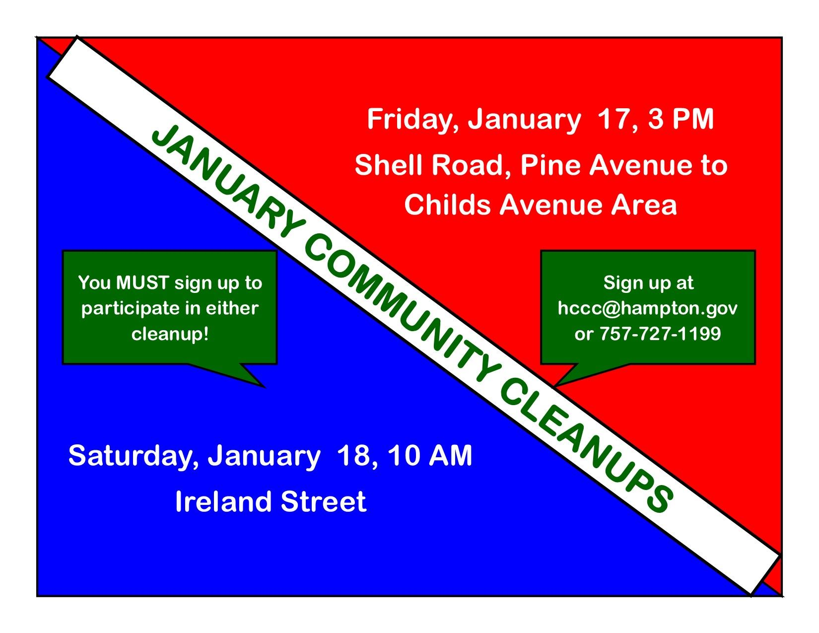 January 2020 Cleanups Ireland Street and Shell Road