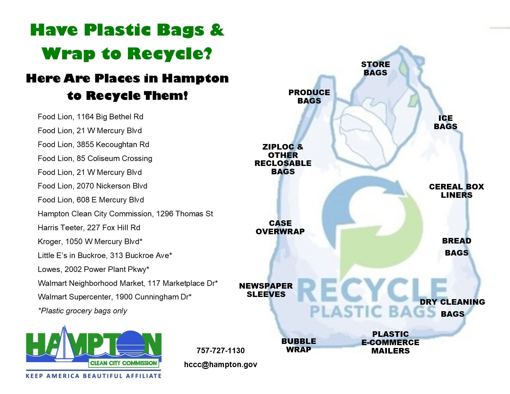 Hampton Plastic Bags Recycling Sites 2020