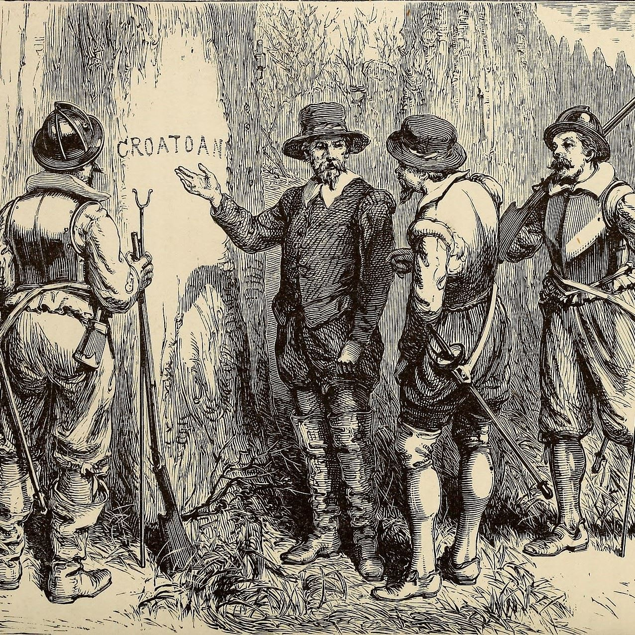 Square Croatan Engraving