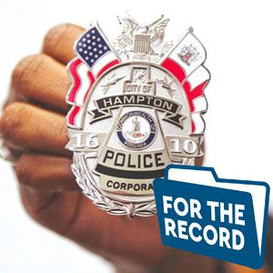For The Record Hampton Police Badge