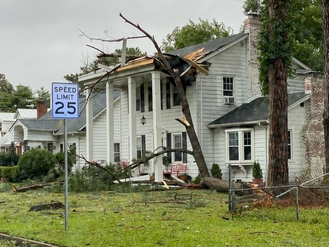 Storm damage in the Wythe area of Hampton.