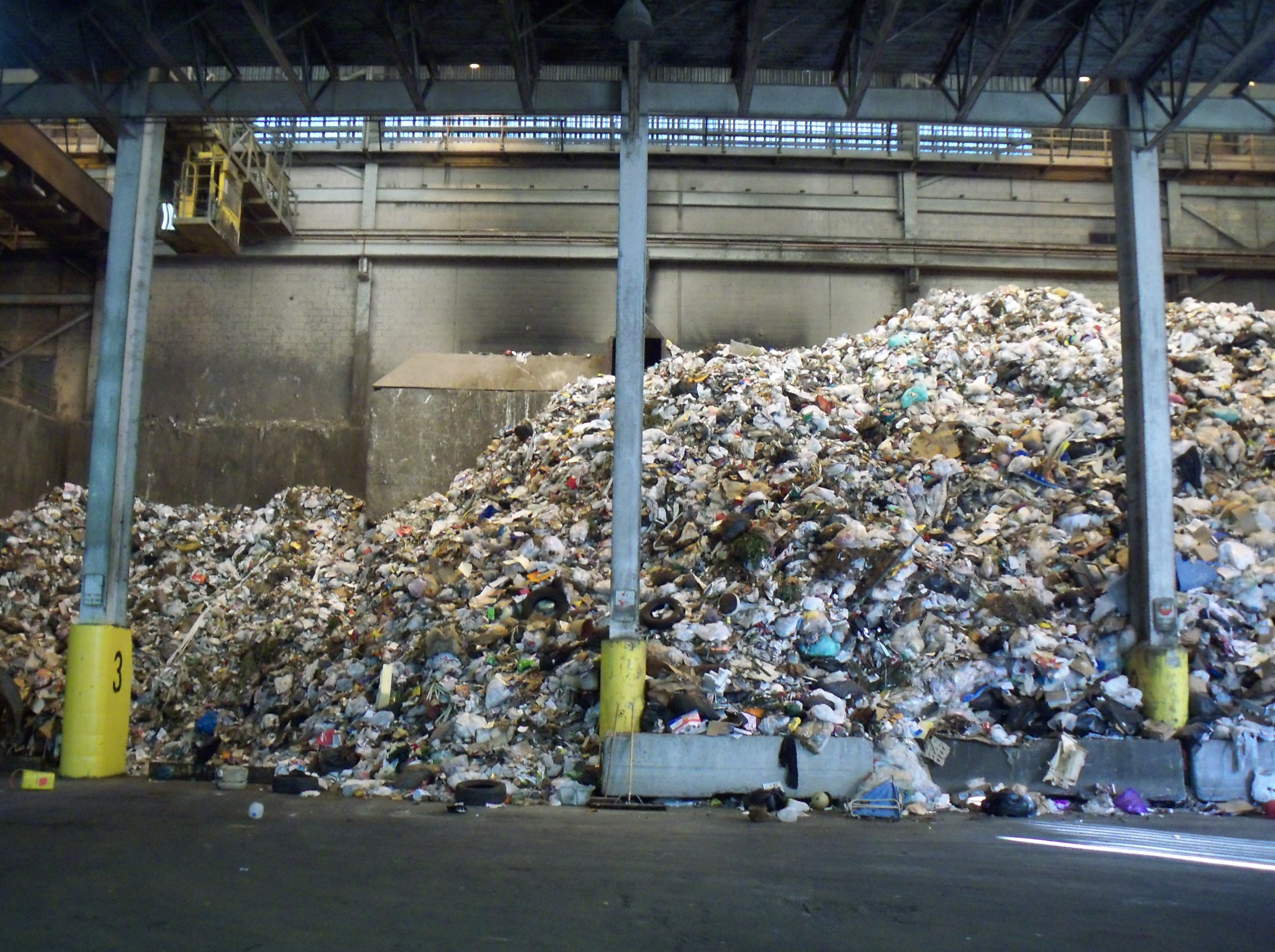 garbage piles up at steam plant