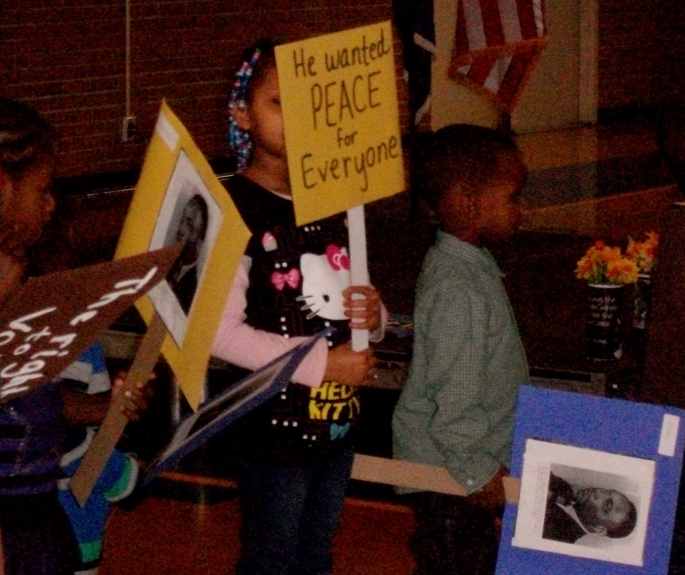 OHA children displaying civil right signs