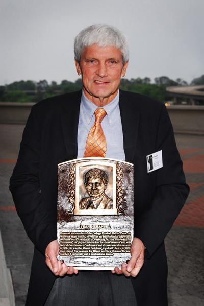 Frank Emauel with Plaque