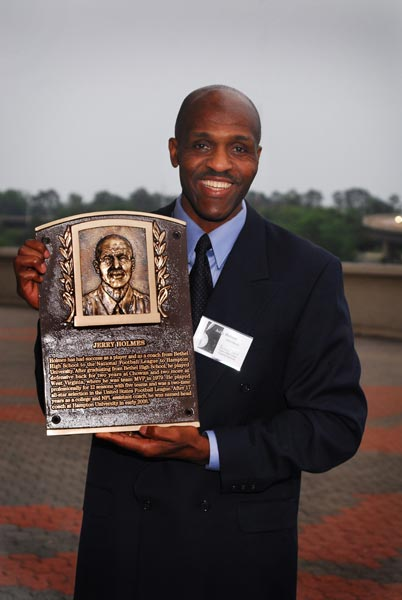 Jerry Holmes with Plaque