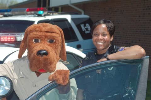 Scruff McGruff and Police Officer